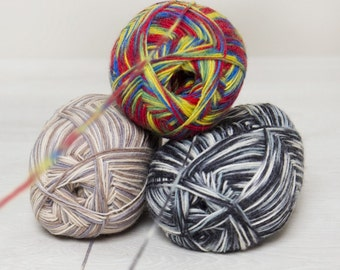Rellana Garne cotton yarnRellana Garne Ecru color wool yarn Flotte Socke, 75% wool, 4pl, color ECRU