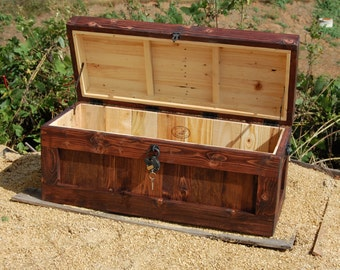 Chest With Lock Hope Chest Wooden Trunk Coffee Table Storage Padlock
