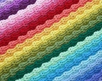 Chasing Rainbows Blanket, Afghan, Throw, Baby