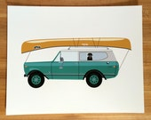 Go Canoeing Art Print / International Harvester / Scout