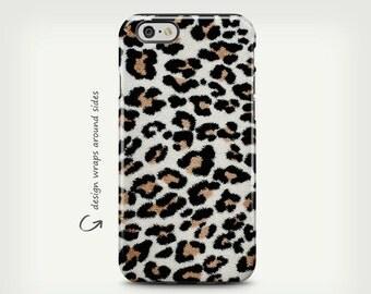 Leopard Print, Brown Black Leopard Print, Leopard iPhone 6 Case, iPhone 5 Case, Leopard iPhone Case, Phone Cover
