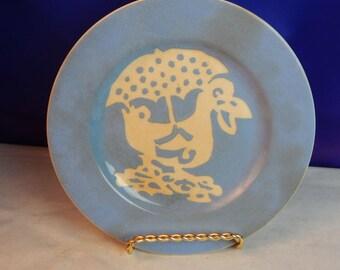 Harker Pottery Co - Cameoware Duck Plate