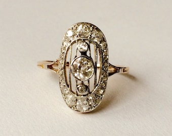 Antique Art Deco diamond engagement ring S5