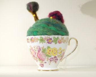 Little House on a Hill Teacup Pincushion