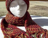 Fall Fantasy Hat and Scarf Set