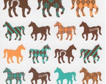 Japan Mind Wave kawaii HORSES sticker sheet/JOY 75557