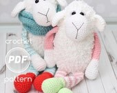 Cloud the Lamb and Cloudy the Sheep PDF Crochet pattern