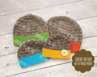 CROCHET PATTERN - Crochet baby beanie pattern, crochet baby hat pattern, crochet hat pattern