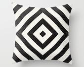 Echo 2 Black Throw Pillow - Geometric Pillow - Modern Decor - Throw Pillow - Urban Decor - by Beverly LeFevre