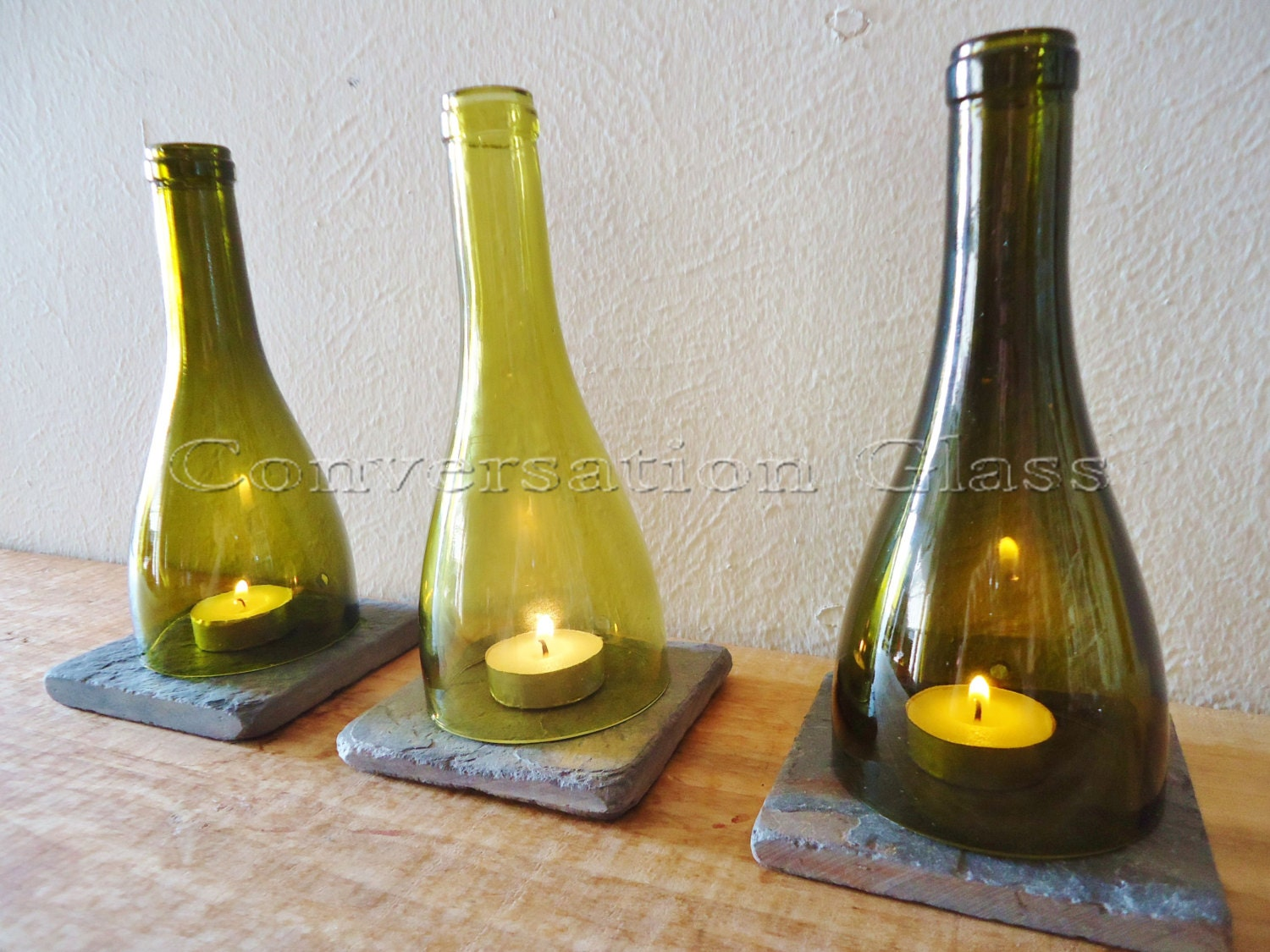 Wine Bottle Candle Holders Tea Light Hurricane Lamps Lanterns