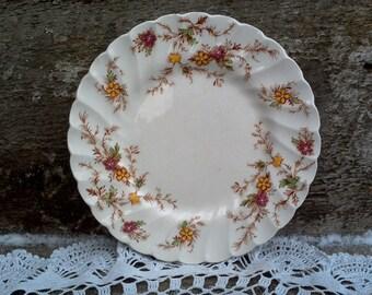 "YELLOW GOLD PLATE, Floral, Myott Heritage Staffordshire, 6 1/4"" Side Plate, England Plate, England Plate,  English Transferware, Kitchen"