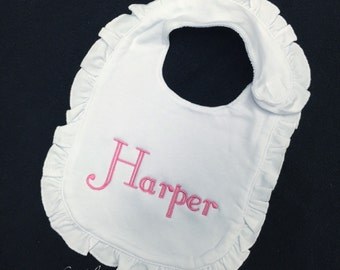 Personalized Ruffled Bib