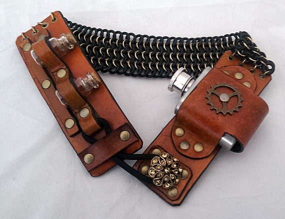 Leather Garter with Flask