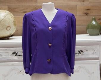 Vintage Purple Hermann Lange Top/Jacket