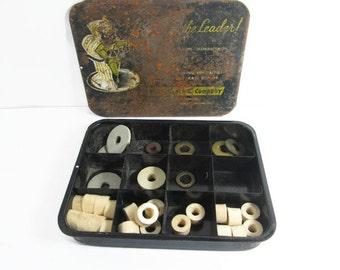 Metal Tool Parts Box Vintage Industrial Black Tom Plumbing Parts
