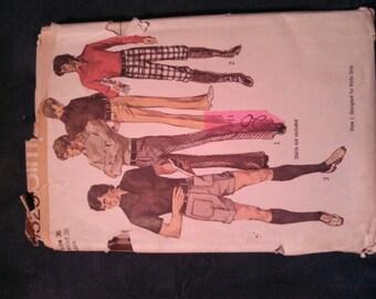 Very Vinatge Mens Knickers and Slacks Simplicity Pattern 9529 Size 36 Waist