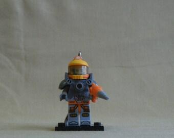 Space Miner Lego Keychain