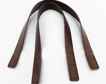 Pair 15.7'' Real Leather Bag Straps,Genuine Leather Bag Strap,Handbag Handles,Cowhide Leather Handbag Strap,Handles Punch Hole Ready kz0005