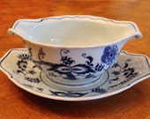 Blue Danube (Japan) - Gravy Boat With Attached Underplate