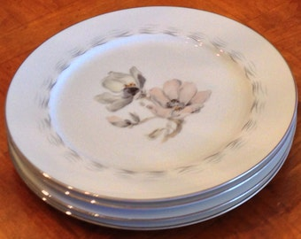 "Sango ""Magnolia"" Set of Three Dinner Plates"