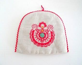 Swedish Christmas Tea Cozy - Vintage Scandinavian Embroidered Egg Warmer