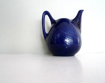 Rörstrand Blue Fire Teapot- Sweden Bla Eld Hertha Bengtsson Mid Century Modern