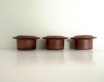 Arabia of Finland Egg Cups Holders - Ruska Brown Ulla Procope Easter Egg cups