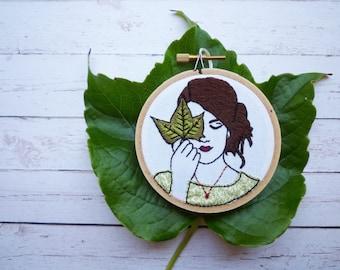3inch Hoop Art 'Jackie' Modern Embroidery