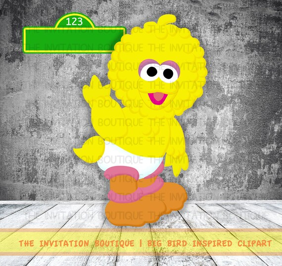 sale item baby big bird cookie and elmo by theinvitationboutiqu