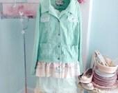 Fairytale Jacket Upcycled  Woodland Spearmint Confection~Sale was 42.00! Reserve for Karen~