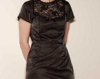 Retro style satin dress
