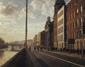 Ireland Dublin City Photography Vintage Inspired Urban Picture Print