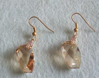 Faceted Crystal Swarovski Earrings