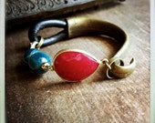 THE MORPHO BRACELET, 2 in 1 ,Precious Gem Collection,Ruby Bracelet, Emerald Bracelet,Pyrite, Apatite, Red, Green,Blue, Tribal,boho Bracelet,
