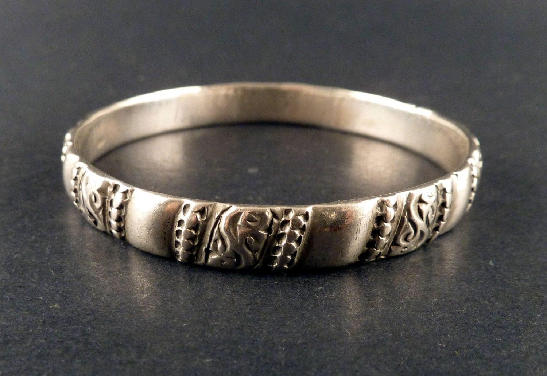 Bijoux Argent Homme Maroc : Ancien bracelet berb?re en argent du maroc bijoux
