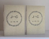 Wedding Vow Booklets - Pearlescent and Metallic Covers - Initialed and Dated Wedding Vow Books