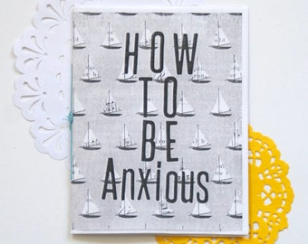 How To Be Anxious - A zine about anxiety