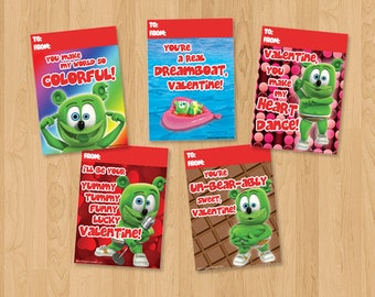 Gummibär The Gummy Bear Printable Valentine's Day Cards ~ Download ~ Character Cards