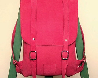 Hot pink leather backpack rucksack / To order / Hot pink backpack / Leather Backpack / Leather rucksack / Womens backpack / Christmas Gift