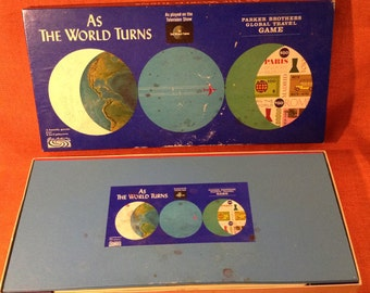 1966 As The World Turns Board Game - Complete - Parker Brothers - TV Soap Opera