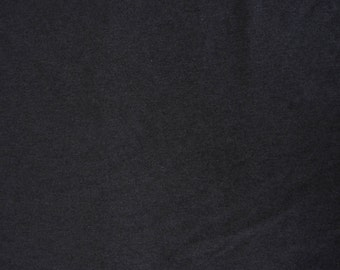Bamboo Viscose Stretch Fabric French Terry Knit by the Yard - Charcoal Heather Gray