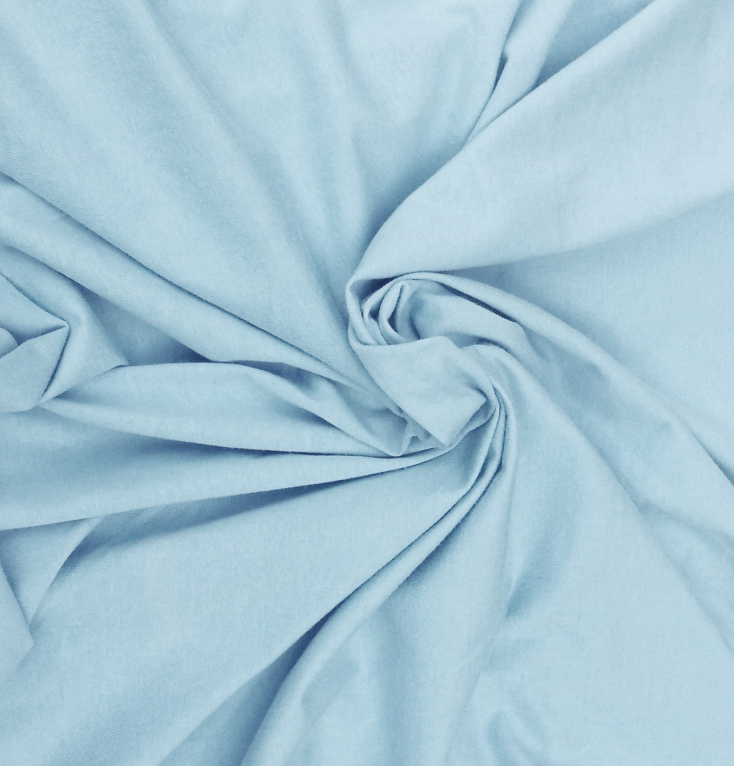Baby blue cotton jersey knit fabric by the yard moby wrap for Baby fabric by the yard