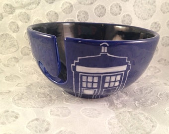 Doctor who bad wolf yarn bowl