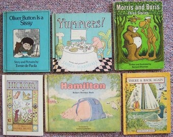1960s 1970s Children's Book Collection - Lot of 12 Weekly Reader Book Club Titles - Hickory, Morris and Boris, Yummers, Hamilton