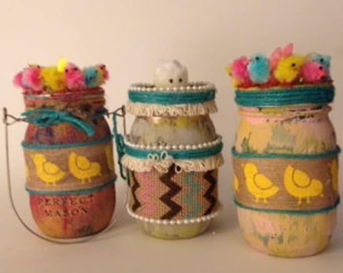 Chic Chick Easter Jars