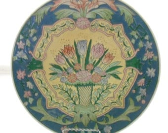 Chinoiserie Plate,Vintage Chinoiserie, Asian Art, Decorative Plate,Plate Wall Decor,Chinoiserie Chic,Hollywood Regency Decor,Asian Wall Art