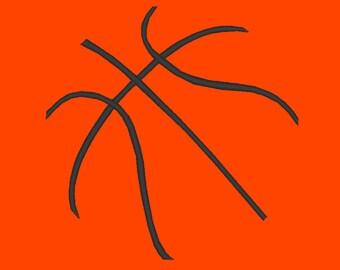 Basketball Lines Minimalist Embroidery Design