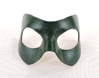 Green Arrow Superhero Mask - Leather Halloween Anime Cosplay Costume