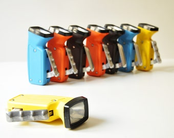 Vintage Soviet Flashlight Dynamo Hand Crank - No Batteries Needed - Select Color