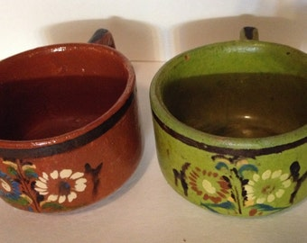 Set of Handmade Clay Coffee Cups